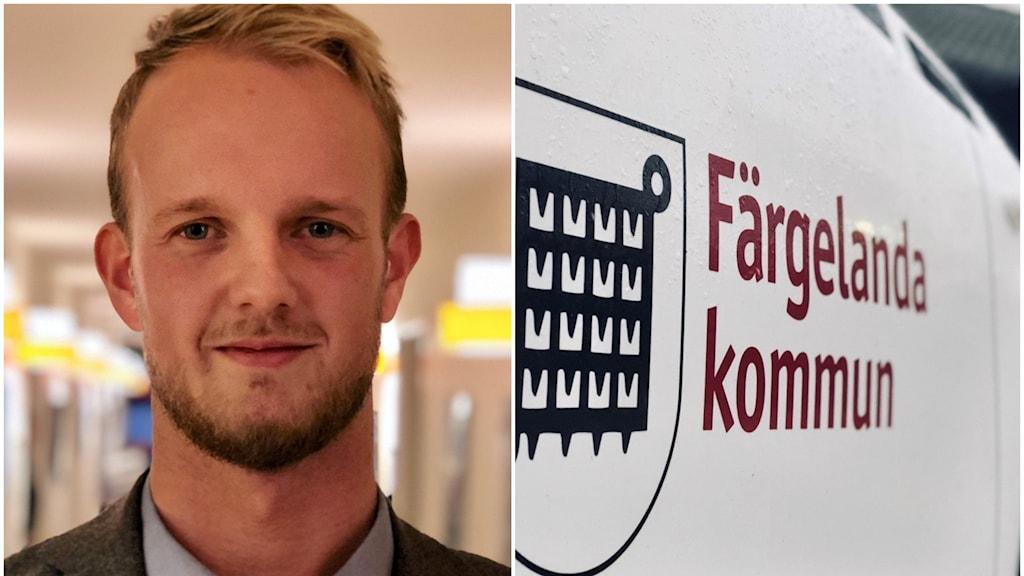 Färgelandas kommunalråd Tobias Bernhardsson (C).