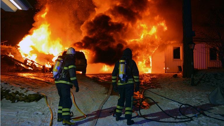 Brand i fastighet i Myckleby, Orust.