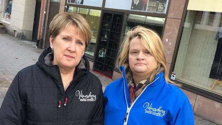 Bild på butiksägarna Carina Karlsson och Anna Wallström