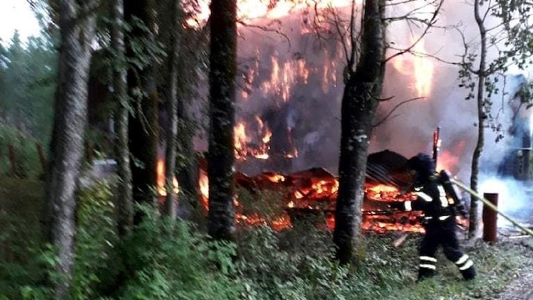 Villabrand i Rämne