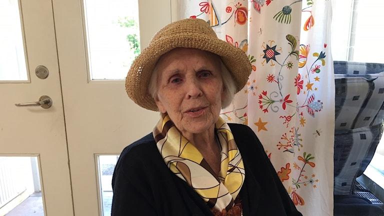Ulla Jacobsson på sitt äldreboende i Ljungskile