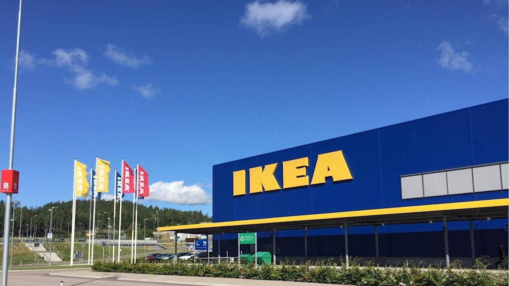 Ikea på Torp i Uddevalla har inte infört något tillfälligt stopp av knivar. Foto: Anton Eriksson/Sveriges Radio P4 Väst
