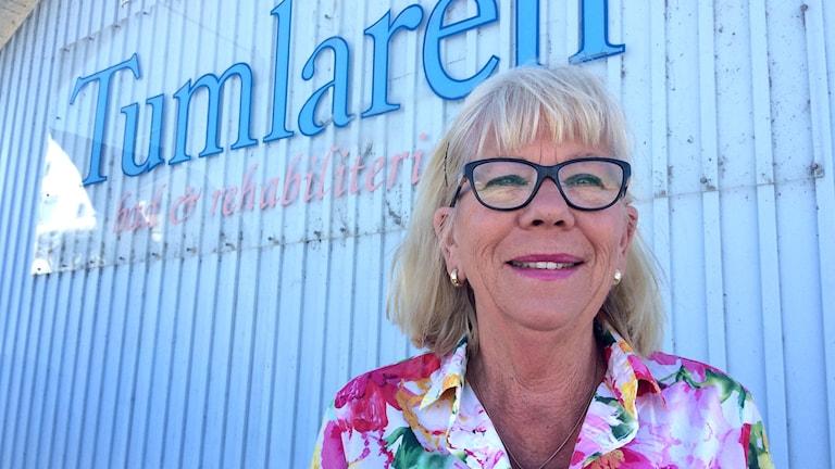 Susan Bergholtz, moderat ordförande för Sotenäs Rehab AB som bedriver solarieverksamhet.