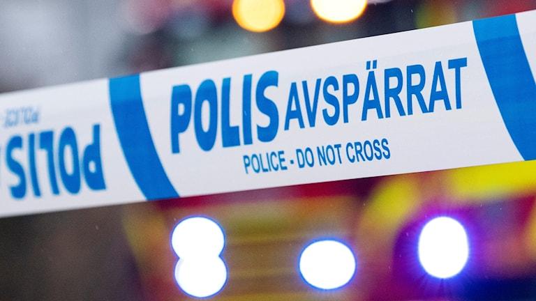 polis blåsljus
