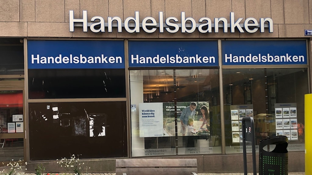 Bild på Handelsbankens fasad.