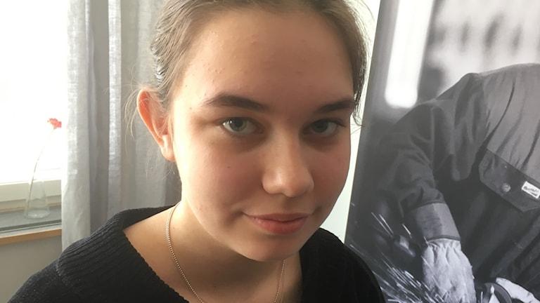 Moa Larsson, elev i 2-an på Vård- och omsorgsprogrammet i Uddevalla