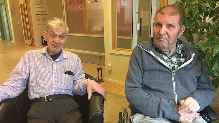 Lars Göran Helgesson och Lars Jacobsson bor på äldreboendet Sofiedal i Ljungskile