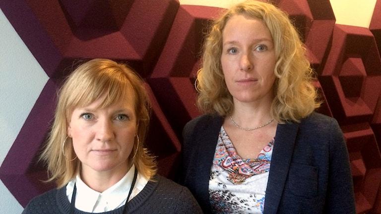Kristina Hedman, säkerhetschef i Trollhättan och Jenny Andersson ordförande i Lärarförbundet Trollhättan
