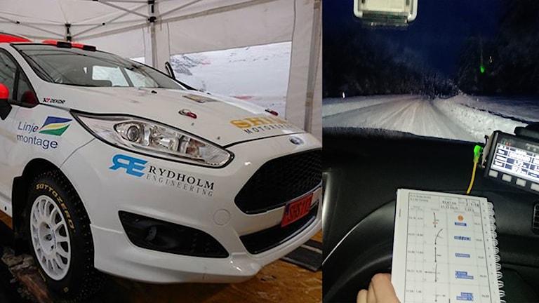 Heidi Ryrlén kör i Svenska rallyt