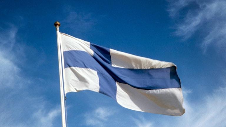 Bild på den finska flaggan.