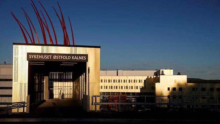 Sjukhuset Østfold Kalnes utanför Sarpsborg.