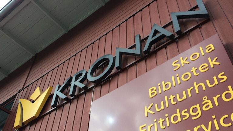 """Bild på skylt med texten: """"Kronan"""""""