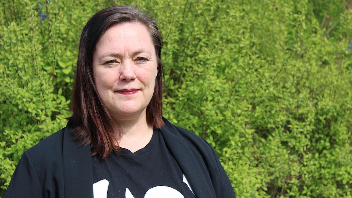 Stina Svensson är en av FI:s kandidater i EU-valet den 26 maj.