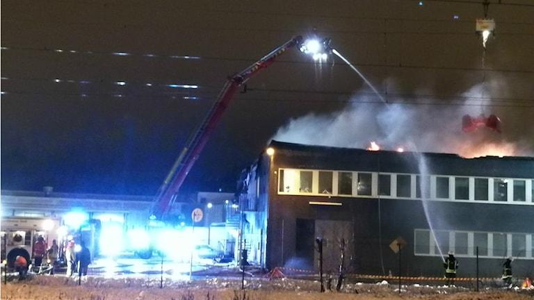 Brand i Åmål.
