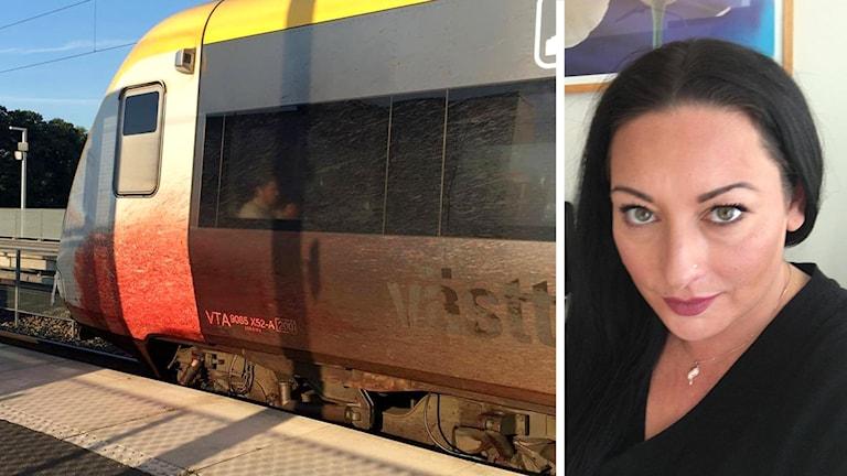 Ett blodigt tåg och en bild på Ulrika Leifsdotter Del Valle