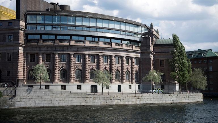 Riksdagshuset i stockholm.