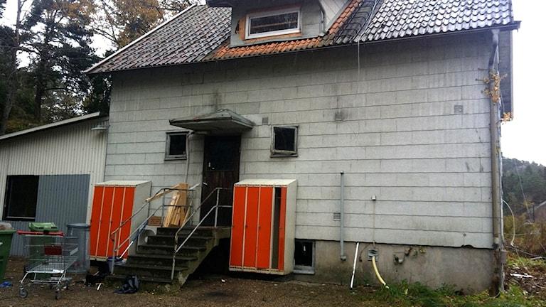 I den här villan i Svinesund bodde flyktingarna.