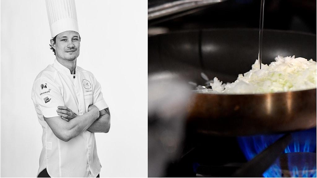 Christian Siberg, från Uddevalla, tävlade i Årets kock 2020
