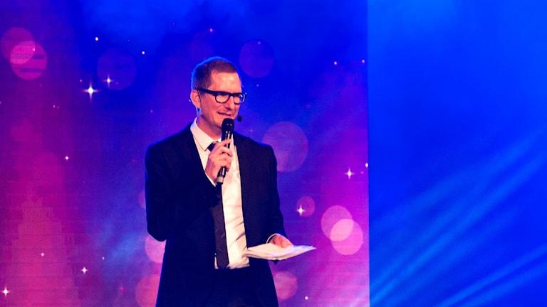 Christer Engqvist från P4 Uppland ledde guldspadegalan.