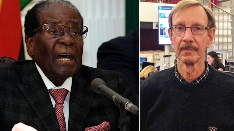 Vänster Robert Mugabe, till höger Bengt Therner