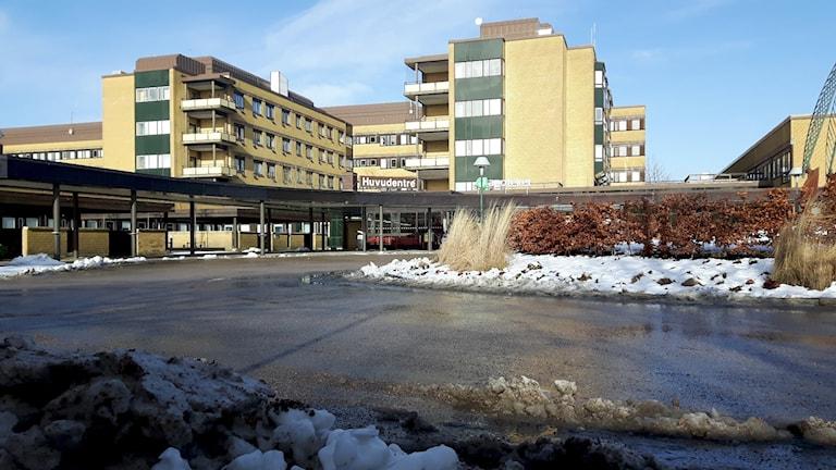 Huvudentrén till Norra Älvsborgs länssjukhus (Näl).
