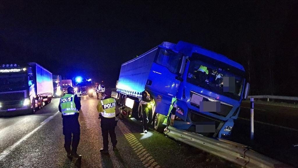 lastbilsolycka E6