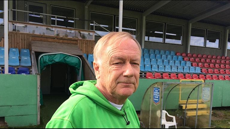 Ljungskiles ordförande Erland Holmdahl på Uddevalla Arena.