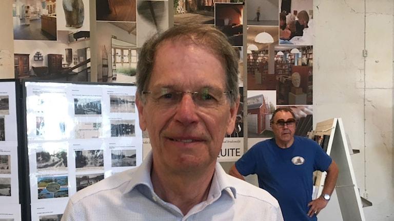 Bild på Loic Manchec, ordförande för Kanalmuseet