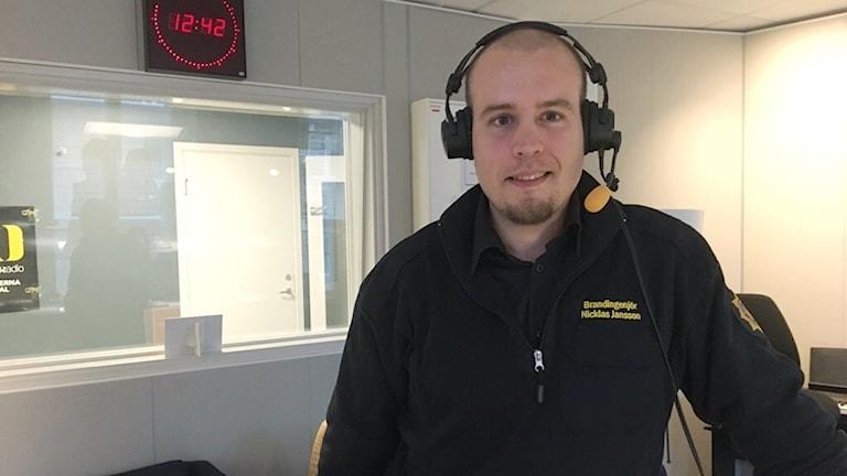 Nicklas Jansson på räddningstjänsten NÄRF
