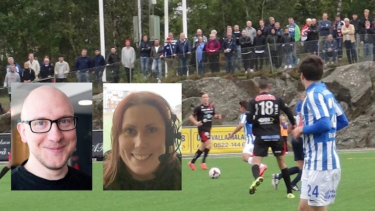 Tomas Bader (kommentator) och Marika Arvidsson (expert) guidar dig genom derbyt mellan IFK Uddevalla och FC Trollhättan.