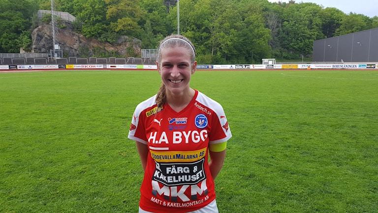 Malin Skoglund, spelare i Rössö i fotboll, division 1 dam