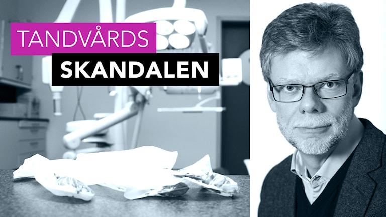 Inklippt bild på en tandläkarmottagning med Tandläkarförbundets ordförande Hans Göransson
