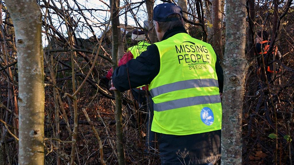 Missing people ute på eftersök. Foto: Mikael Berglund/Nyhetersto.se