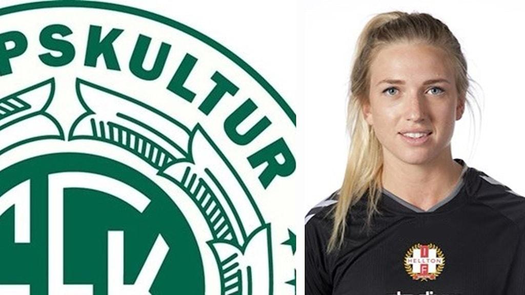 Frida Alm, spelare i A-laget i Kropps Kultur.