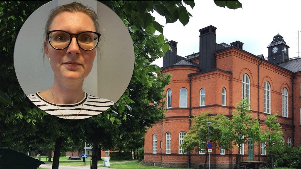 Madelene Jansdotter, rektor på Tärnan. Bild på Restad gård.