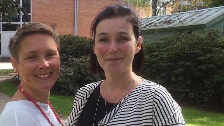 Sevtap Gurdal och Johanna Larsson