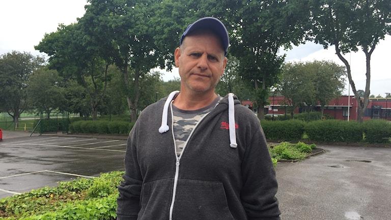 Toni Ilio, trygghetsvandrare på Kronogården.