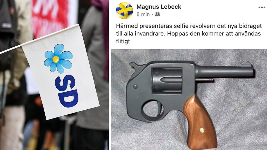 Magnus Lebeck (SD) hotas av uteslutning efter ett inlägg på facebook.