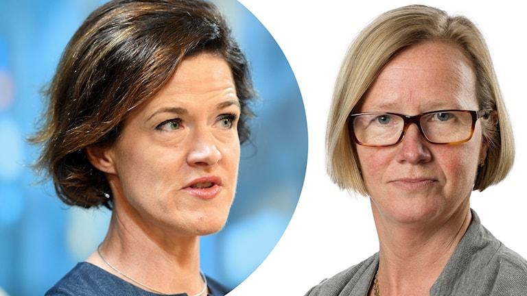 Anna Kinberg Batra och Kristina Jonäng (C)