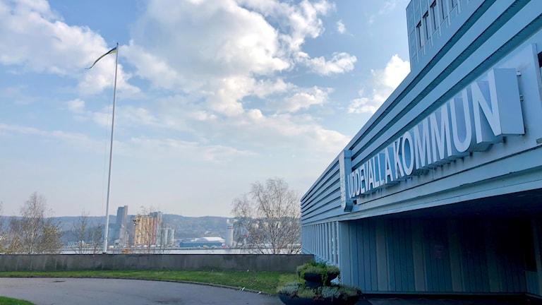 Det blåa kommunhuset i Uddevalla