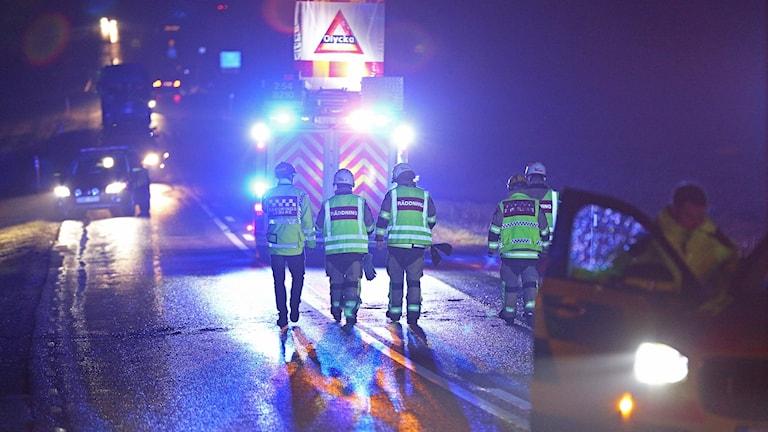 Bild från singelolyckan i Gläborg.