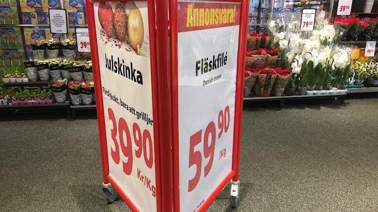 Extrapris på svenskt kött