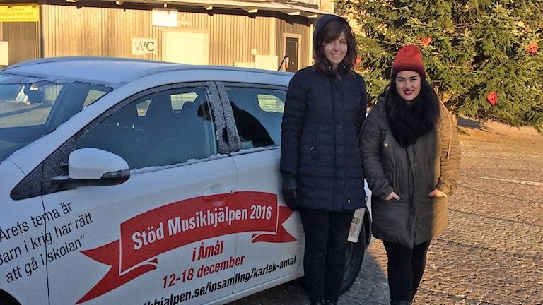 Anna Hjelmberg och Charlin Svaner de la Cruz. Foto: Charlotte Andersson/Sveriges Radio.