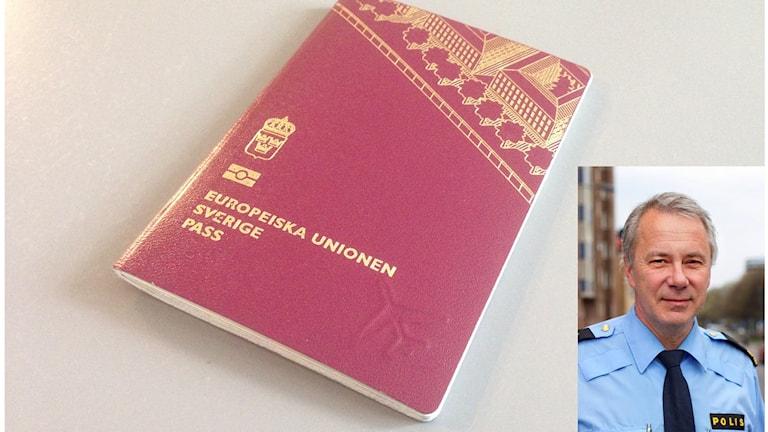 Ett pass och en bild av Jan Schütt