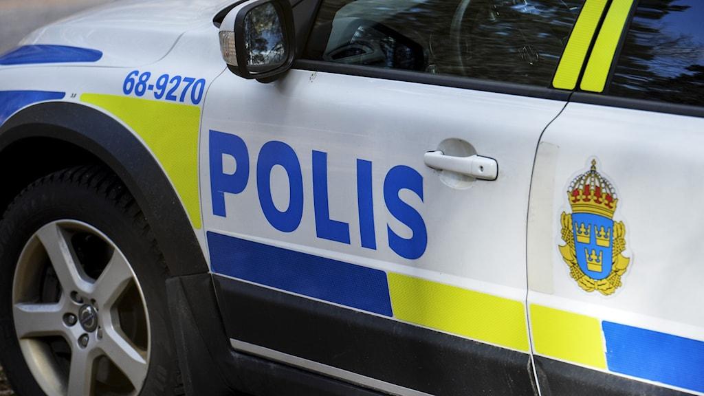 sidan på en polisbil