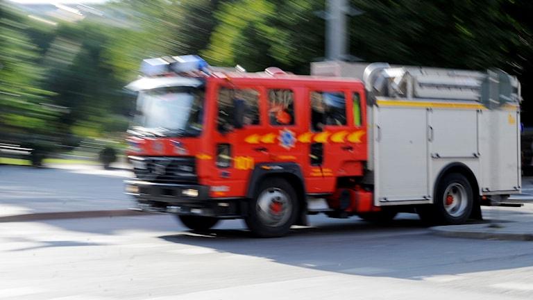 Brandbil, räddningstjänst. Foto: Bertil Ericson/TT.