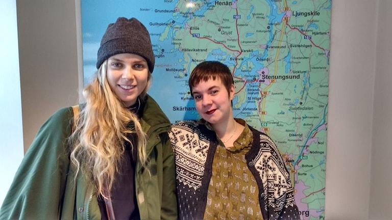 Samantha Ohlanders och Sara Parkman