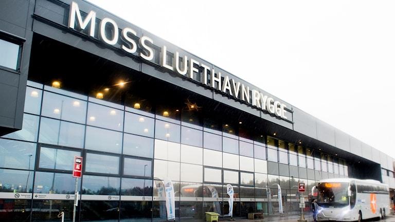 Entré till Rygge flygplats i Norge