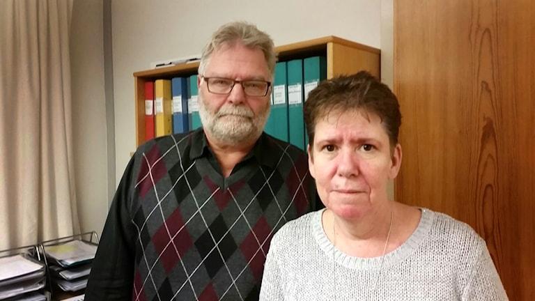 Ulla Börjesson (S) Kenneth Carlsson (L) Färgelanda. Foto: Thomas Pitura/Sveriges Radio