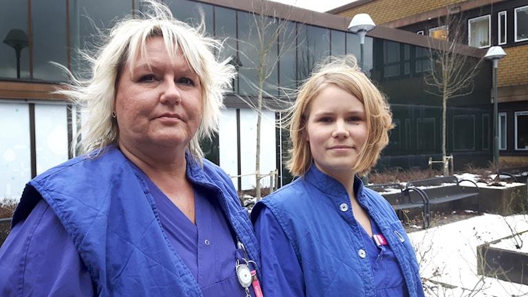 Undersköterskan Helena Tigerberg och sjuksköterskan Johanna Bylund